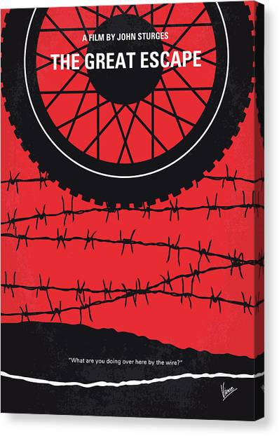 Air Force Canvas Print - No958 My The Great Escape Minimal Movie Poster by Chungkong Art