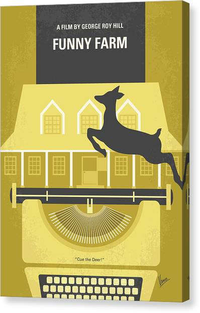 Vermont Canvas Print - No959 My Funny Farm Minimal Movie Poster by Chungkong Art
