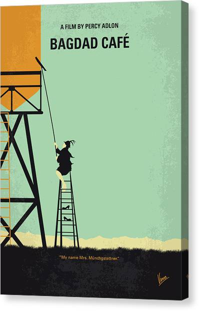 Cafes Canvas Print - No964 My Bagdad Cafe Minimal Movie Poster by Chungkong Art