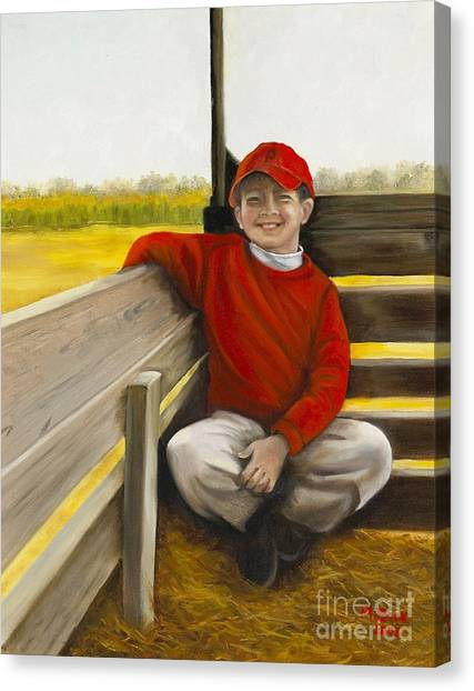 Noah On The Hayride Canvas Print