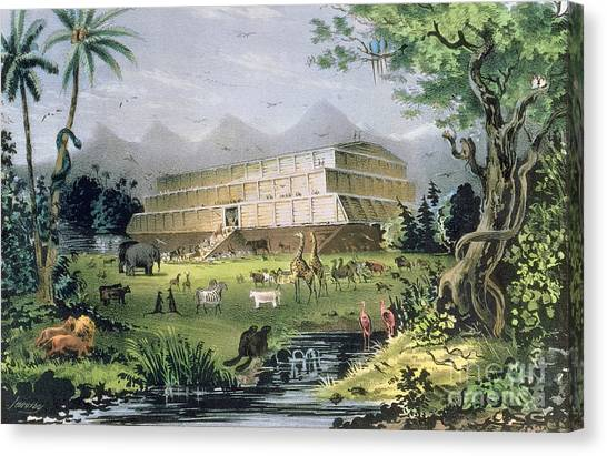 Old Testament Canvas Print - Noahs Ark by Currier and Ives