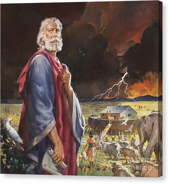 Noah Canvas Print - Noah's Ark by James Edwin McConnell