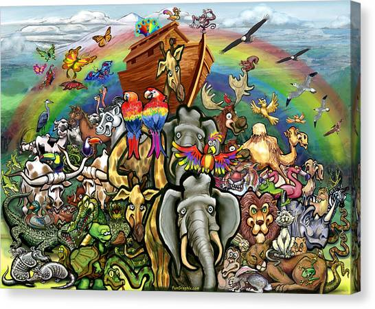 Noah's Ark Canvas Print