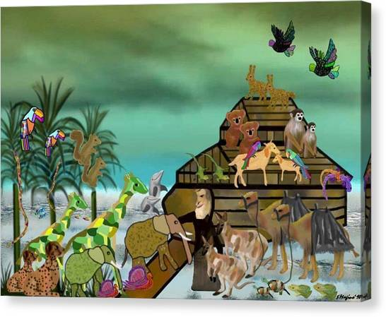 Noah's Ark Canvas Print by Sher Magins