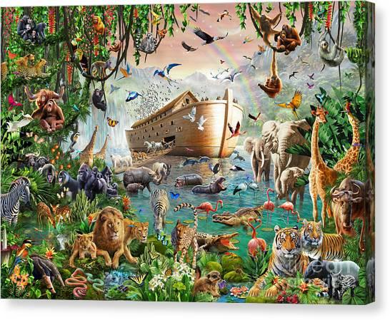 Noah Canvas Print - Noah's Ark Variant 1 by MGL Meiklejohn Graphics Licensing
