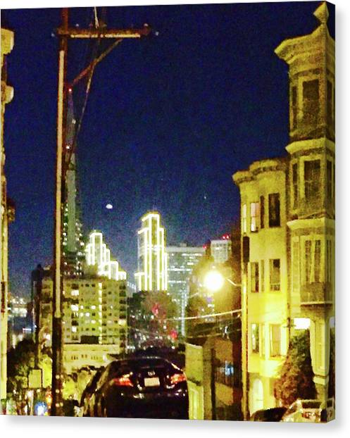 Nob Hill Electric Canvas Print
