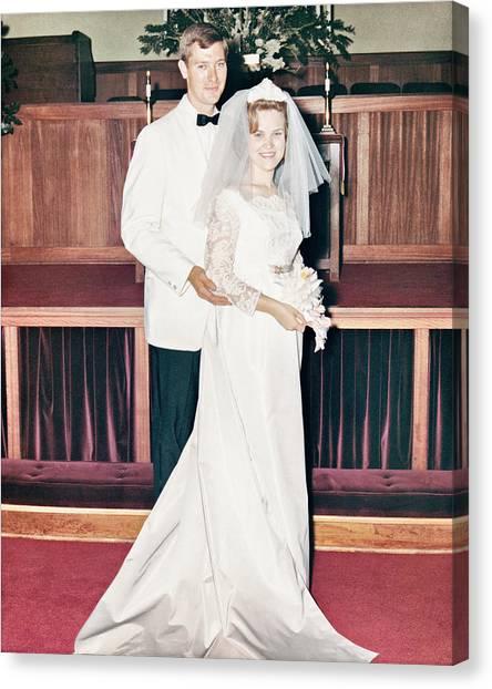 Nobel And Vernice Wedding Formal Portrai Canvas Print