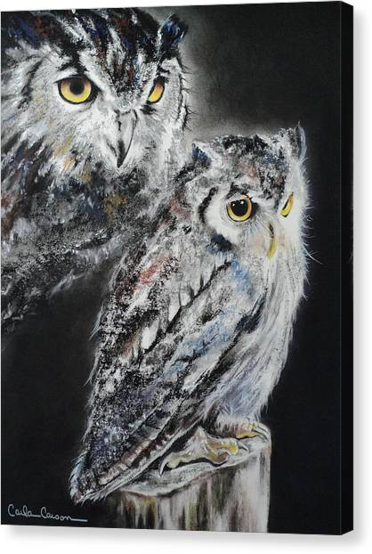 Noble Owl Guardian Of The Afterlife Canvas Print
