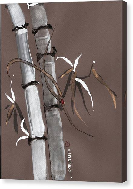 Noble Snow Spirit Like Bamboo Canvas Print