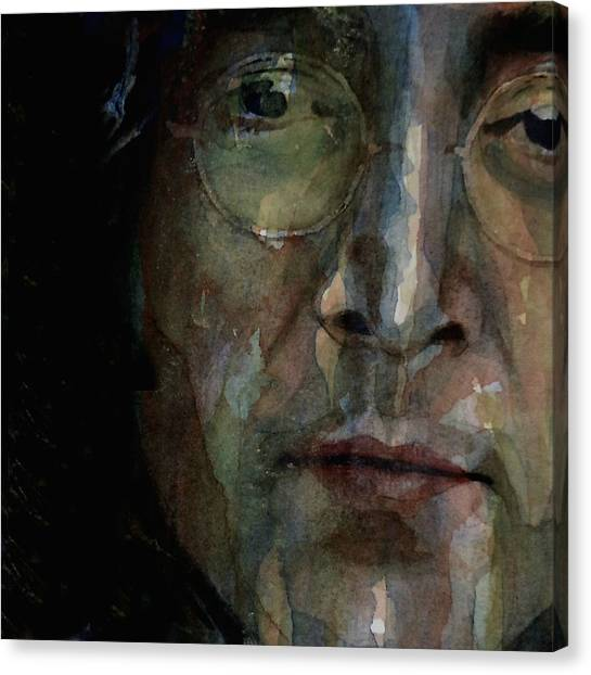 John Lennon Canvas Print - Nobody Told Me There'd Be Days Like These by Paul Lovering