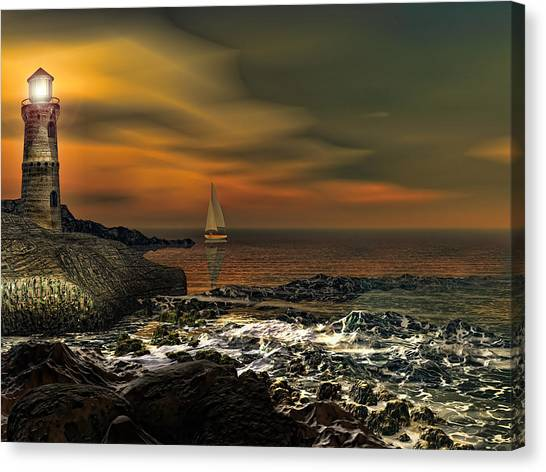 Rhode Island Canvas Print - Nocturnal Tranquility by Lourry Legarde