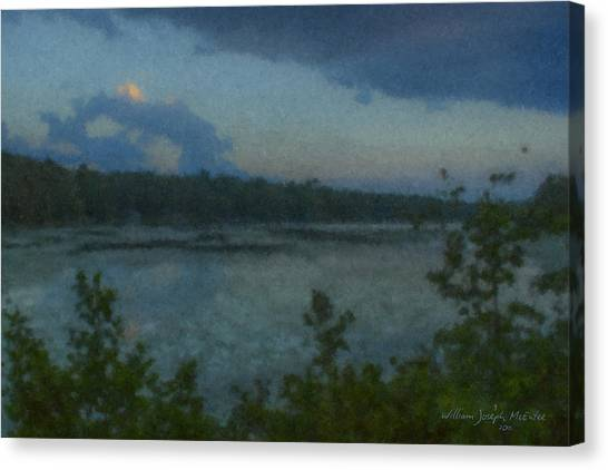 Nocturne At Ames Long Pond Canvas Print