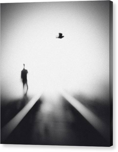 Train Canvas Print - Nocturne by Hengki Lee