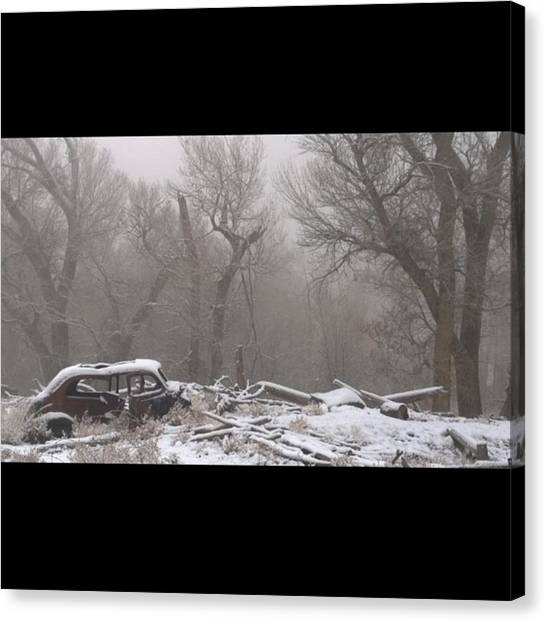 Foggy Forests Canvas Print - #nofilter #abandoned #car #blanketed In by Ron Meiners