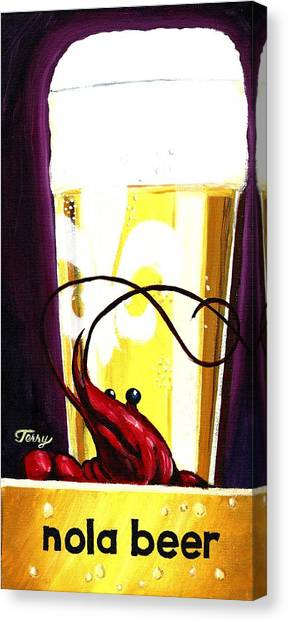 Nola Beer Canvas Print by Terry J Marks Sr
