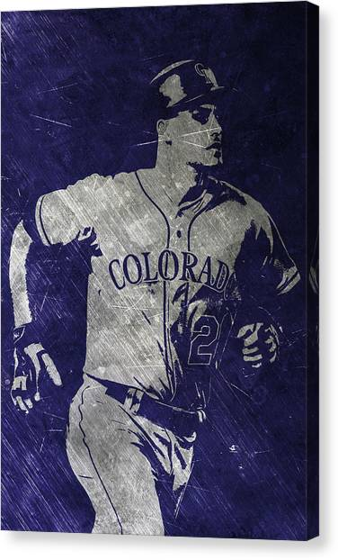 Colorado Rockies Canvas Print - Nolan Arenado Colorado Rockies Art by Joe Hamilton