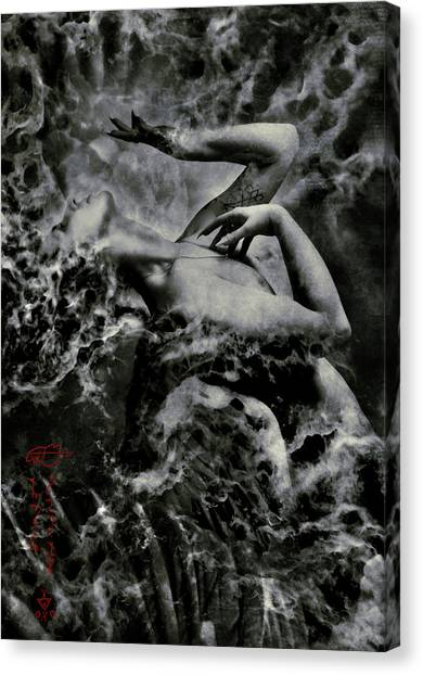 Gothic Art Canvas Print - Non Serviam by Cambion Art