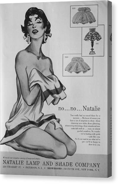 Canvas Print featuring the digital art no...no... Natalie by Reinvintaged