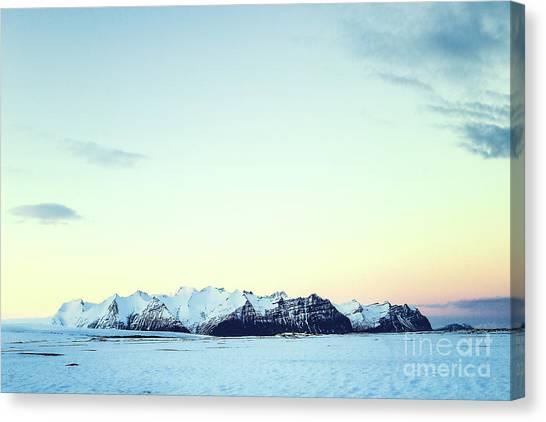 Vatnajokull Glacier Canvas Print - Nordic Light by Evelina Kremsdorf