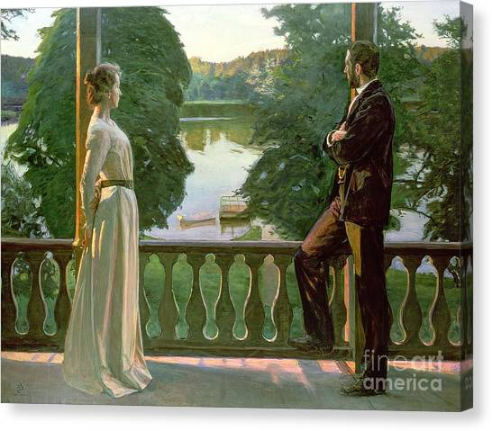 1900 Canvas Print - Nordic Summer Evening by Sven Richard Bergh