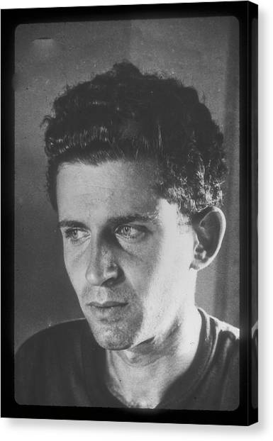 John H Popper Canvas Print - Norman Mailer by John H Popper