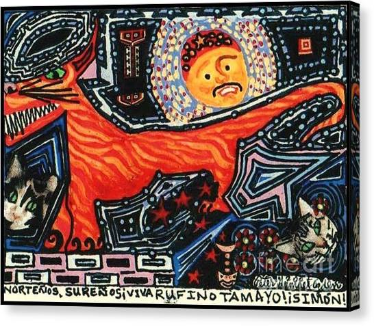 Nortenos Surenos Viva Rufino Tamayo Simon Canvas Print