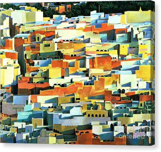 Moorish Canvas Print - North African Townscape by Robert Tyndall