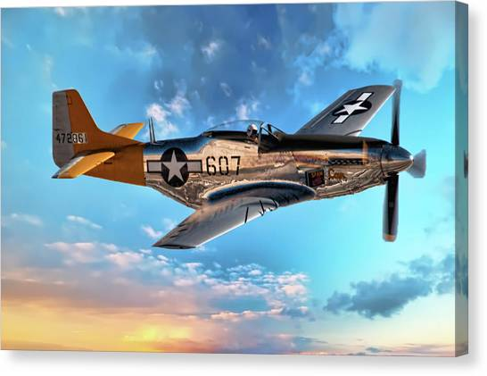 Spam Canvas Print - North American P-51 Mustang - 1 by Scott Dunham
