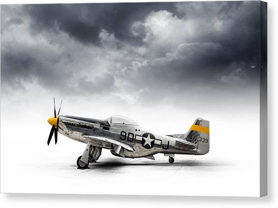 Air Force Canvas Print - North American P-51 Mustang by Douglas Pittman
