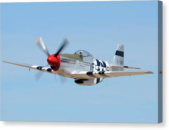 North American P-51d Mustang Nl5441v Spam Can Valle Arizona June 25 2011 1 Canvas Print