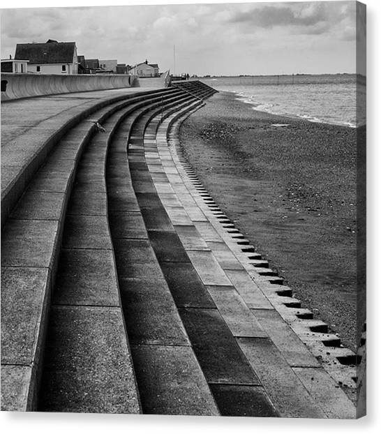 Canvas Print - North Beach, Heacham, Norfolk, England by John Edwards