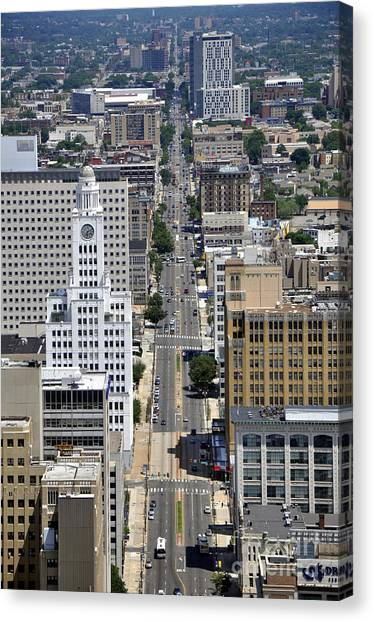 Temple University Canvas Print - North Broad Street by Andrew Dinh