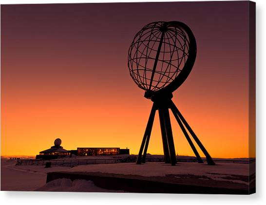 North Cape Norway At The Northernmost Point Of Europe Canvas Print