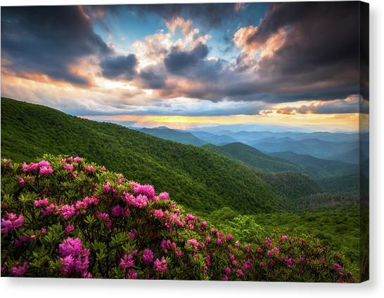 North Carolina Blue Ridge Parkway Scenic Landscape Asheville Nc Canvas Print