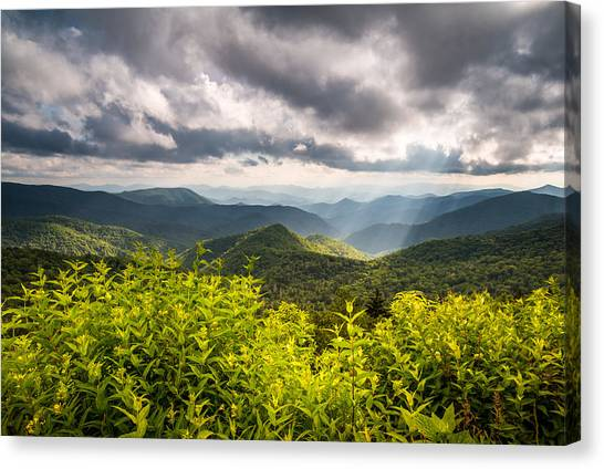 Blue Ridge Parkway Canvas Print - North Carolina Blue Ridge Parkway Scenic Landscape Photography Asheville Nc by Dave Allen