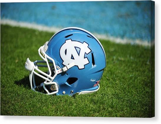 Acc Canvas Print - North Carolina Tar Heels Football Helmet by Replay Photos
