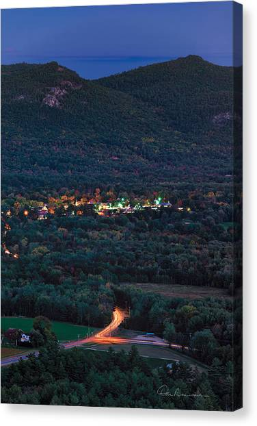 North Conway Dusk 6888 Canvas Print