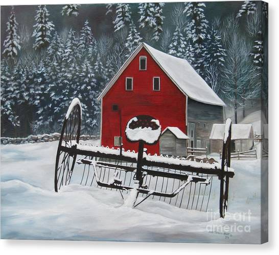 North Country Winter Canvas Print