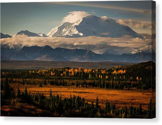 North Face Of Denali Canvas Print