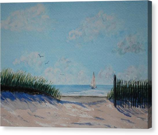 North Forest Beach Canvas Print