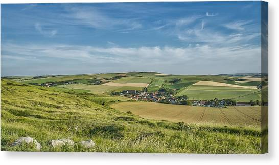 North French Scenery Canvas Print