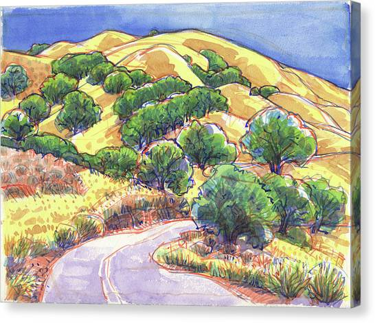 North Gate Road, Mount Diablo Canvas Print