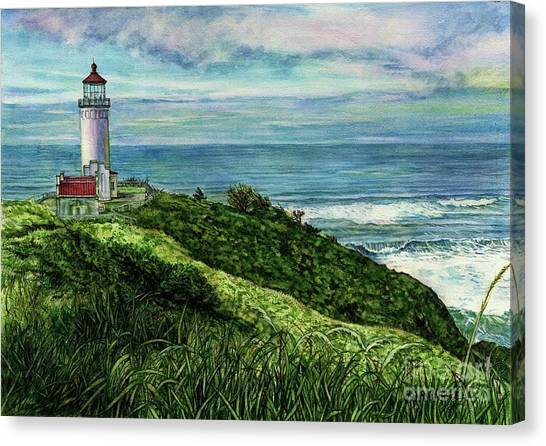 North Head Lighthouse And Beyond Canvas Print