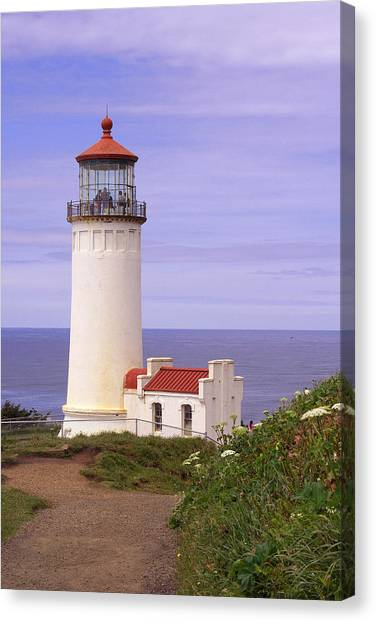 North Head Lighthouse Li 2000 Canvas Print by Mary Gaines