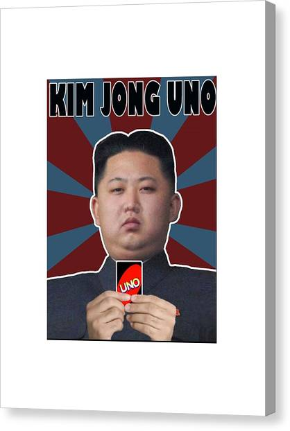 James Franco Canvas Print - North Korea Parody Fun by Roy Roberto