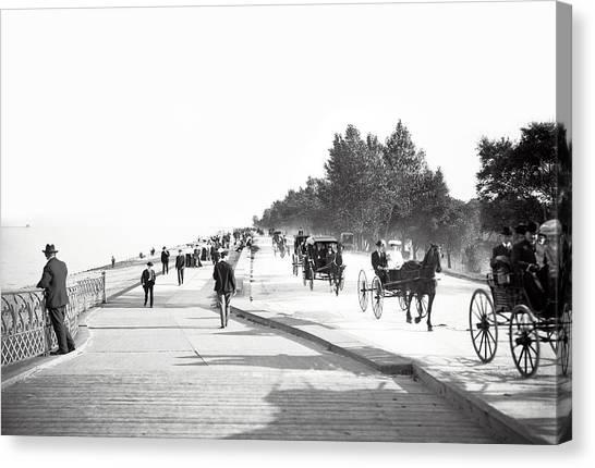 Vintage Chicago Canvas Print - North Lake Shore Drive - Chicago 1905 by Daniel Hagerman