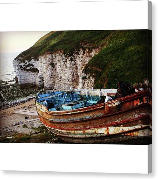 Fishing Boats Canvas Print - North Landing Fishing Boat #flamborough by Mo Barton