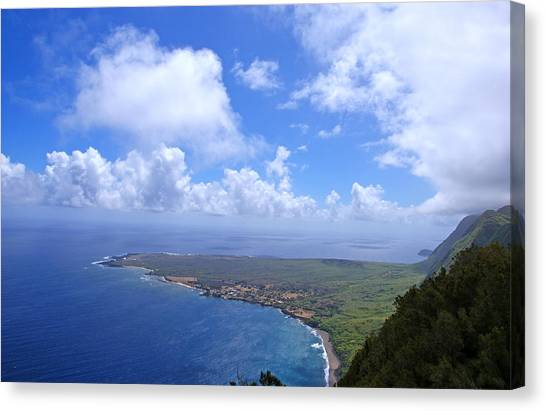 Kalaupapa Cliffs Canvas Print - North Molokai Diptych R by Kevin Smith