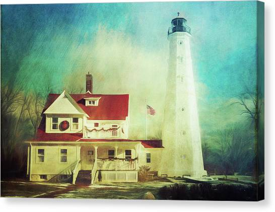 North Point Lighthouse Keeper's Quarters Canvas Print