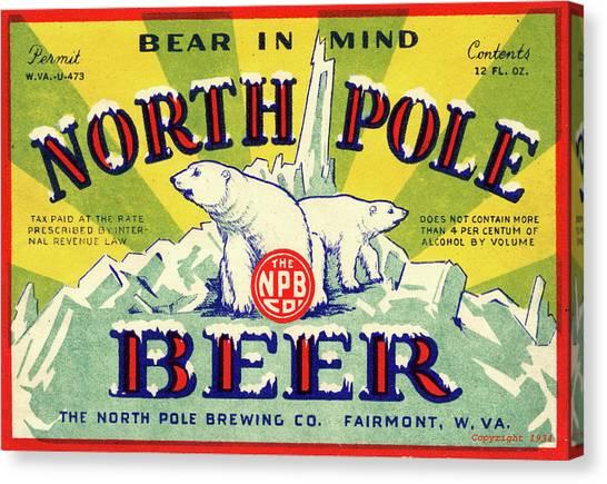 North Pole Beer Canvas Print